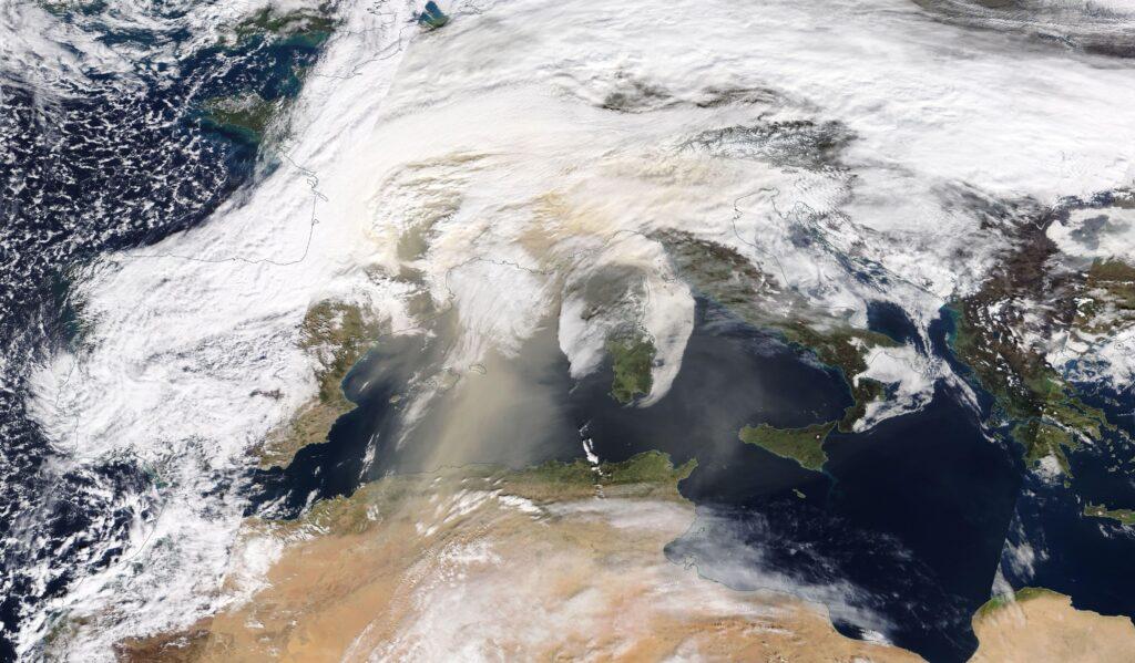 image satellite nasa sable sahara 6 février 2021